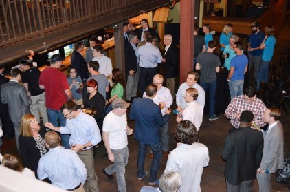 Hundreds turned out for the first Velocity Accelerator Demo Day. (Michael Tomberlin / Alabama NewsCenter)