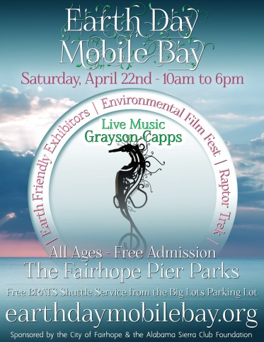 Earth Day Mobile Bay will take place at Fairhope Pier Park.