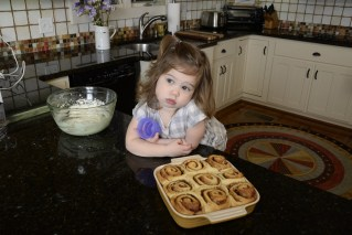 Waiting for the hazelnut cinnamon rolls to cool before adding the icing can seem like forever. (Ted Tucker/Shorelines)