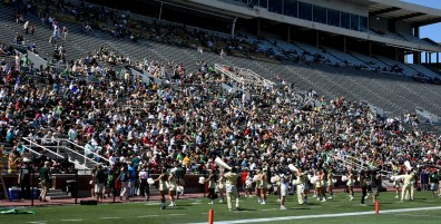 An announced crowd of 7,822 watches the Green team romp at Legion Field during the 2017 UAB spring football game. (Solomon Crenshaw Jr./Alabama NewsCenter)
