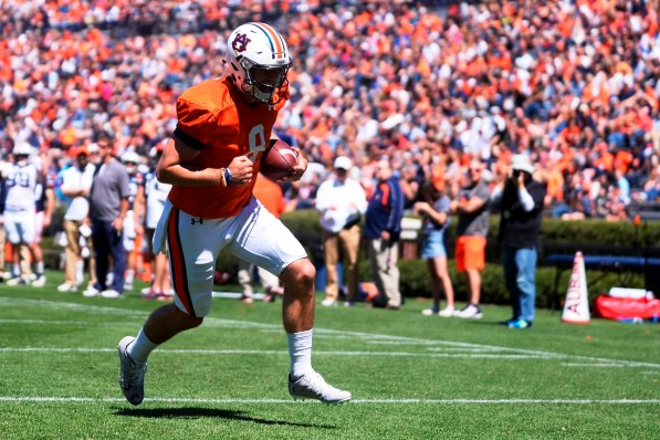 Jarrett Stidham (8) earned offensive MVP honors at Auburn's A-Day game. (Dakota Sumpter/Auburn Athletics)