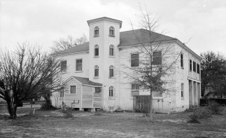 Rear view of a group of buildings used for officers' quarters, Mount Vernon Arsenal. (Photograph by E.W. Russell, 1935, Library of Congress Prints and Photographs Division)