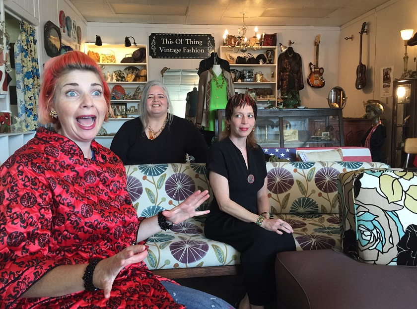 Jamie Cicatiello, Lori Watts and Sylvia Parker share a love for the vintage and founded the 5th Street Vintage Market in Northport. (Anne Kristoff / Alabama NewsCenter)
