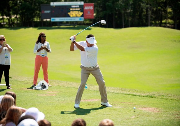 Professional golfers take time before this week's Regions Tradition tournament to teach area children some lessons about golf and life. (Christopher Jones/Alabama NewsCenter)