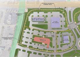 The Comfort Inn and Suites is the anchor for CrossPlex Village and should open around this time next year. (Davis Architects)