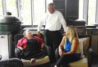 Fuller Goldsmith with parents Milessa and Scott Goldsmith. (Karim Shamsi-Basha / Alabama NewsCenter)