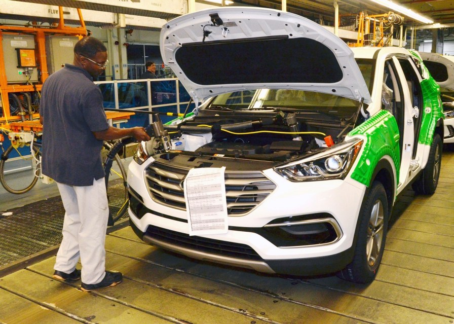 Hyundai's Montgomery plant produced 328,400 automobiles and 620,159 engines in 2017. (Contributed)