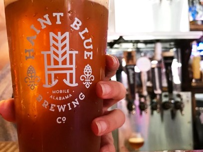 Haint Blue Brewing Company's Saffron Saison uses saffron from farmers in Afghanistan. (Michael Tomberlin / Alabama NewsCenter)