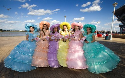 Azalea Trail Maids participated in the Alabama Bicentennial kickoff in Mobile. (Keith Necaise)
