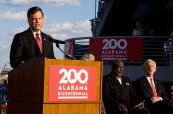 state Sen. Arthur Orr, chairman of the Alabama Bicentennial Commission, speaks to the audience at the Alabama Bicentennial kickoff. (Keith Necaise)