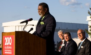 Mobile City Councilman Fred Richardson speaks to the audience at the Alabama Bicentennial kickoff. (Keith Necaise)