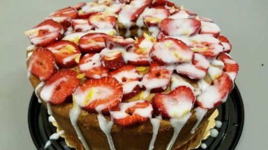 Strawberry lemon pound cake from Emily's Heirloom Pound Cakes. (file)