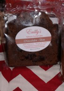Chocolate cake slice from Emily's Heirloom Pound Cakes at Walgreens in Hoover(Keisa Sharpe/Alabama NewsCenter)