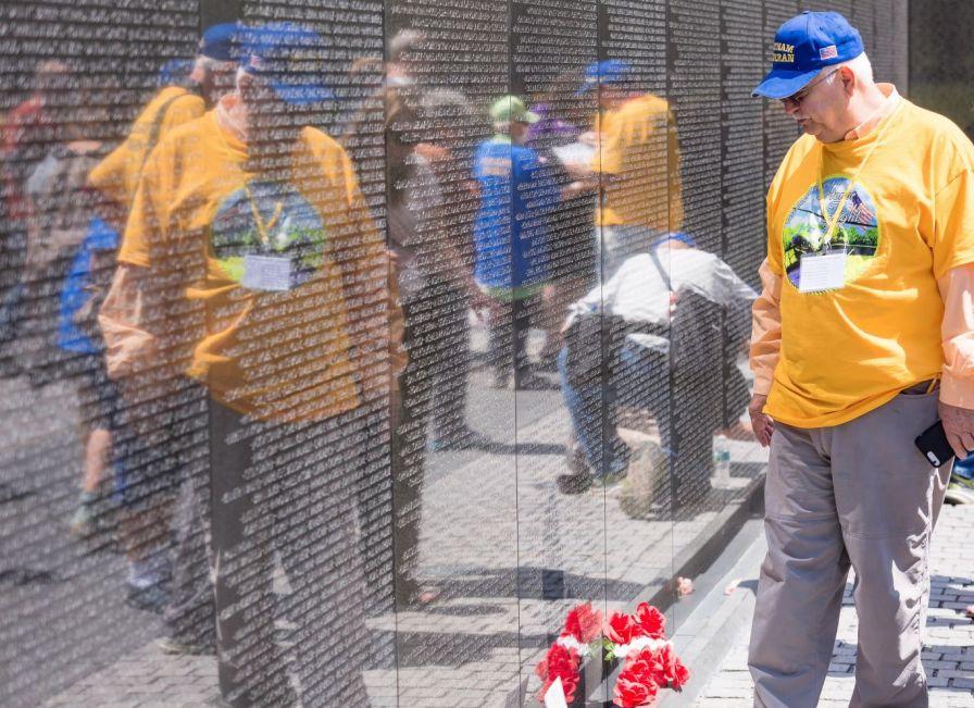 Visiting the wall brought closure to many. (Simo Ahmadi/Alabama NewsCenter)
