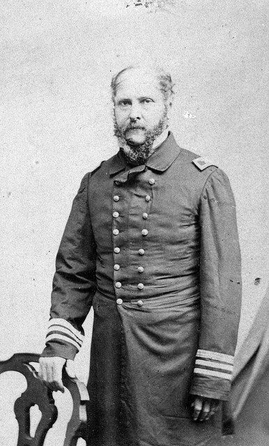 Rear Admiral John A. Winslow, USN (1811-1873), was promoted to the rank of commodore as a result of his successful engagement with CSS Alabama. (National Museum of the U.S. Navy)