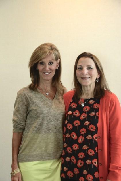 Gail Bayer, left, with Sallie Downs. (Karim Shamsi-Basha / Alabama NewsCenter)