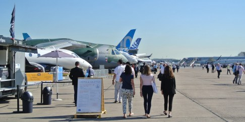 The Paris Air Show will draw a projected 150,000 people during its trade show phase. (Contributed)