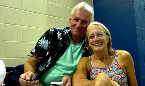 Terril McBride with husband Ed Unks at the 2017 National Senior Games in Birmingham. (Solomon Crenshaw Jr. / Alabama NewsCenter)
