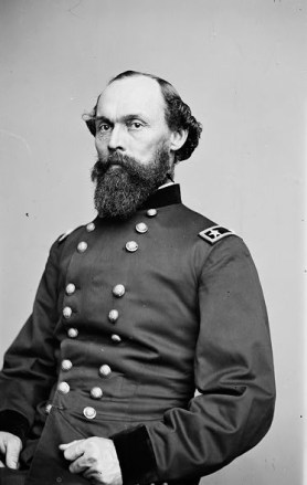 Gordon Granger was a major general in the Union Army during the Civil War who headed the infantry division that captured Fort Gaines and Fort Morgan during the Battle of Mobile Bay in August 1864. Granger had previously distinguished himself in the Battle of Chickamauga in September 1863 and the Battle of Chattanooga in November 1863. (From Encyclopedia of Alabama, Courtesy of Library of Congress)