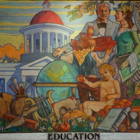 Murals by John Augustus Walker on permanent display in the Museum of Mobile, Mobile, AL, 2010. (The George F. Landegger Collection of Alabama Photographs in Carol M. Highsmith's America, Library of Congress, Prints and Photographs Division)