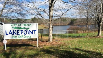 A 5,670-yard disc golf course is among the features either completed or in the works at Heflin's Cahulga Creek Park, which area leaders hope to tie into the Pinhoti Trail. (Brittany Faush-Johnson/Alabama NewsCenter)