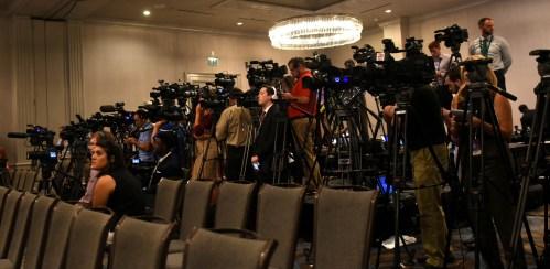The media has descended on Hoover for SEC Media Days. (Solomon Crenshaw Jr. / Alabama NewsCenter)