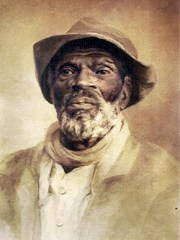 A watercolor painting of a formerly enslaved man titled Saturday Afternoon Dress, by artist and poet Maria Howard Weeden, whose work aimed to counter the caricatured way in which freed people were portrayed in her time. (From Encyclopedia of Alabama, Courtesy of Burritt on the Mountain, Huntsville)