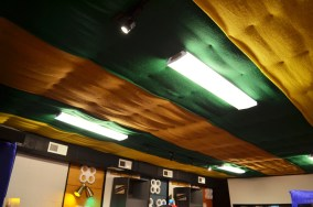 It may not technically be pretty, but this is what the Stones saw when they looked up at the ceiling at Muscle Shoals Sound Studios. (Anne Kristoff/Alabama NewsCenter)