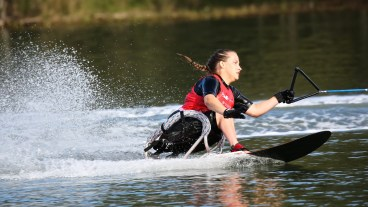 Sarah Switzer began water skiing under the tutelage of Joe Ray when she was 6 years old. Eleven years later, she became Ray's teammate on the U.S. Disabled Water Ski World Team and won a bronze medal in the women's competition at the World Championships in Australia. (Shane Morgan)