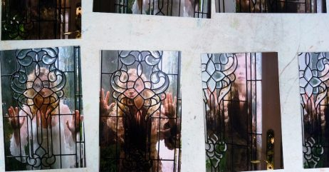 Leaded glass is the new way Jeannie Maddox is approaching her distorted view with art. (Mark Sandlin / Alabama NewsCenter)
