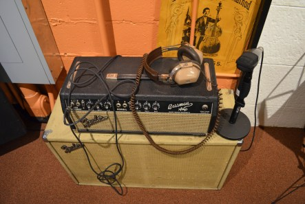 Authentic headphones and amps at the restored original Muscle Shoals Sound Studios. (Anne Kristoff/Alabama NewsCenter)