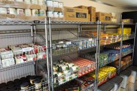 Dry goods and canned goods are on the left aisle. (Donna Cope/Alabama NewsCenter)