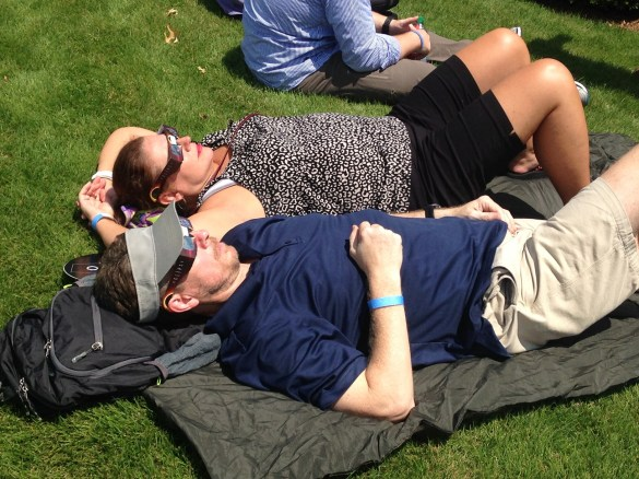 Southern Research hosted an eclipse watch party at its Southside campus and Quinlan Castle. (Michael Sznajderman / Alabama NewsCenter)