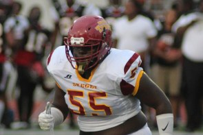 Tuskegee Defensive Tackle Kali James will help anchor the Golden Tigers' defensive front. (Tuskegee Athletics)