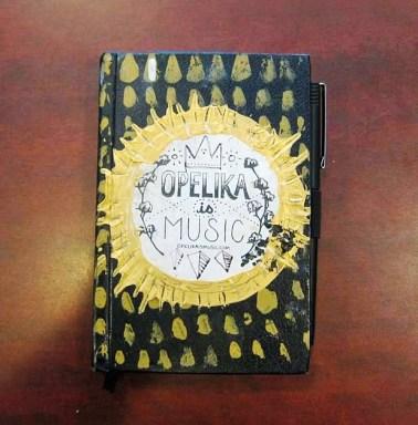 RC Hagans' sketchbook. (Anne Kristoff/Alabama NewsCenter)