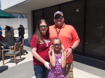 UAB optometrists and staff helped patients and others view the solar eclipse safely. (Allison Westlake / Alabama NewsCenter)