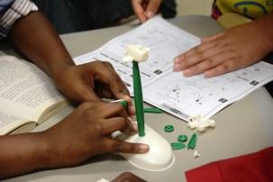 Problem-solving is a classroom emphasis that teacher Stephanie Kidd approaches in many different ways. (Karim Shamsi-Basha/Alabama NewsCenter)