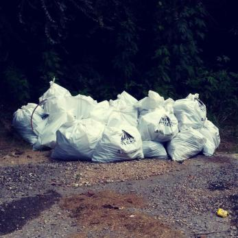 Smaller items removed from the creek were collected in Renew Our Rivers trash bags. (Jefferson County Department of Public Health)
