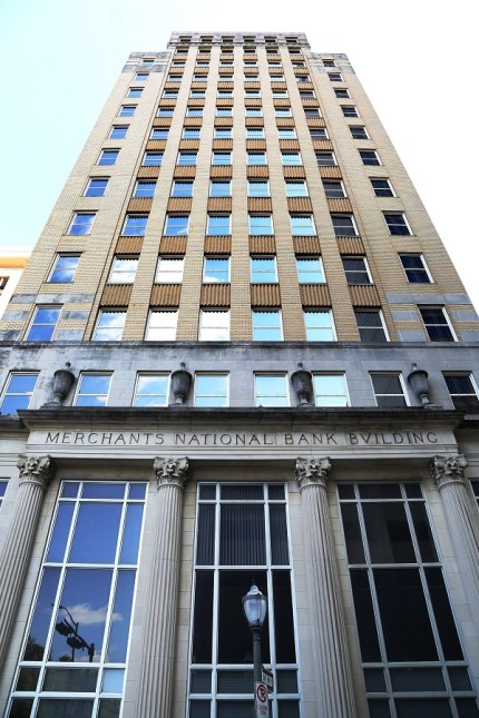 The former Merchants National Bank building is the latest historic structure in downtown Mobile to get a new lease on life. (Mike Kittrell/Alabama NewsCenter)