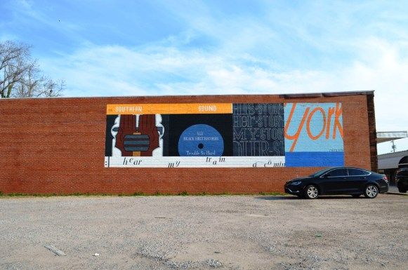 York is known for its artists, and its buildings sport several murals. (Anne Kristoff/Alabama NewsCenter)