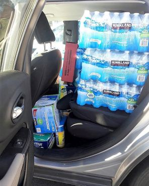 Water in Atlanta is ready to transport to Puerto Rico. (Contributed)
