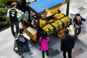 Amazon's Community Banana Stand is in the heart of its Seattle campus and speaks to the somewhat quirky nature of its employee culture. (Jordan Stead / Amazon)
