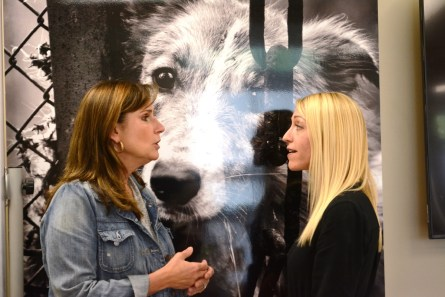 Allison Black Cornelius, left, is an advocate for animals both inside and outside Alabama. (Karim Shamsi-Basha/Alabama NewsCenter)