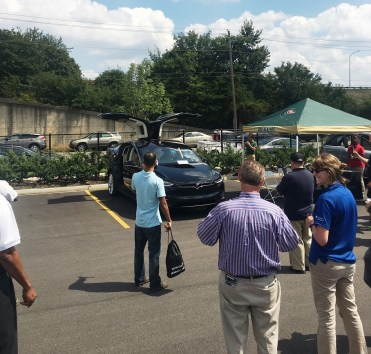 UAB hosted an electric vehicle showcase today in recognition of National Drive Electric Week. (contributed)