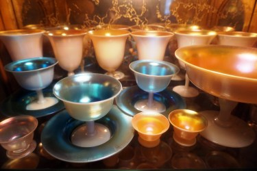 Part of Pappas's collection of art glass. (Erin Harney/Alabama NewsCenter)