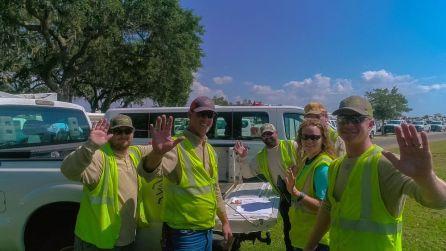 Alabama Power crews work in Florida to restore power outages. (Photo courtesy of Melissa Matisko)