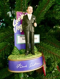 This Frank Sinatra ornament is among many pop culture ornaments decorating a Christmas tree that stays up year-round at the Pappas home. (Bob Blalock/Alabama NewsCenter)