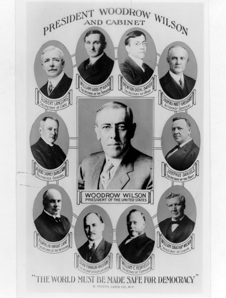 President Woodrow Wilson And His Cabinet C 1917 Library Of Congress Prints