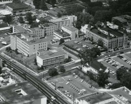 Aerial view of Southern Research Institute, December 1953. (Alabama Power Company Archives)