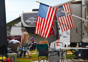 Patriotism is alive and well at the Talladega Superspeedway infield. (Karim Shamsi-Basha / Alabama NewsCenter)